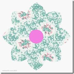 Mar 17 Vintage flower block