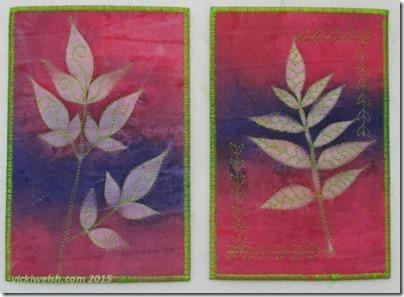 July 7 pink leaf cards
