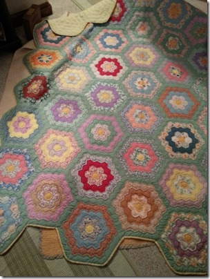 Oct 2 grandmothers flower garden quilt