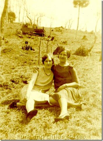 Lura and Lillian Rakes - early 1920s