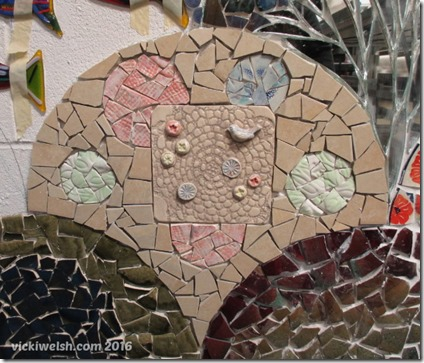 Feb 5 mosaic bird tile