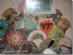 June 22 mosaic after grout