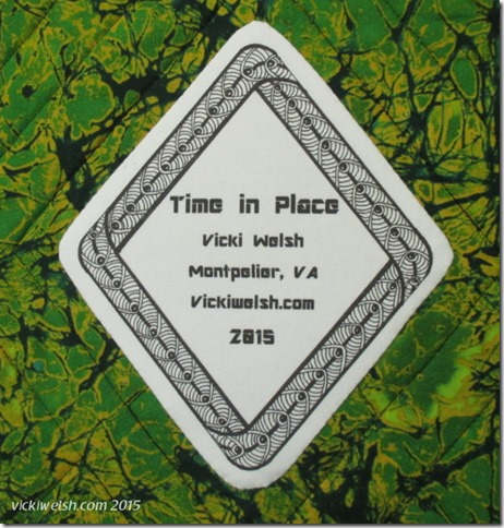 Time in place - label