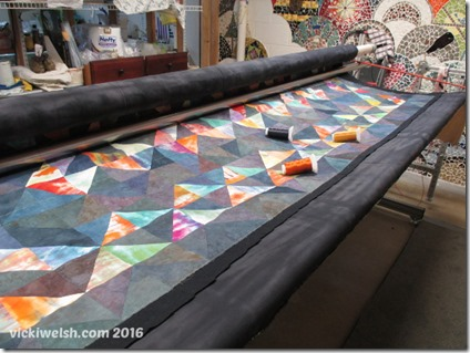 Feb 16 quilt loaded and basted